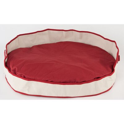 Tote Cuddler Oval Bolster Dog Bed Color: Red, Size: Small (28 L x 20 W)