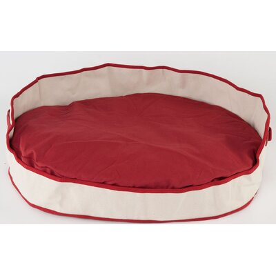 Tote Cuddler Oval Bolster Dog Bed Color: Red, Size: Medium (35 L x 28 W)