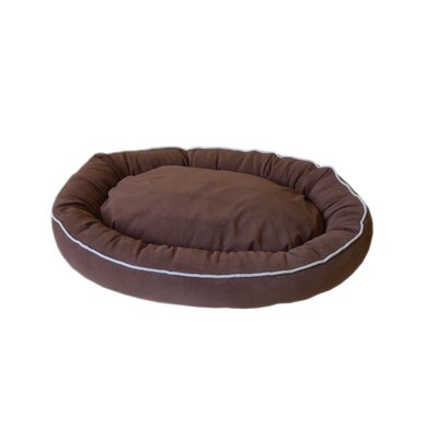 Oval Lounge Bagel Donut Dog Bed Color: Chocolate, Size: Small (24 L x 20 W)