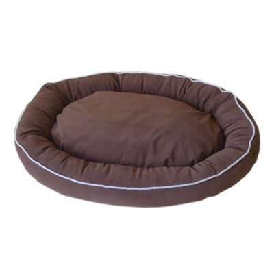 Oval Lounge Bagel Donut Dog Bed Size: Large (36 L x 27 W), Color: Chocolate