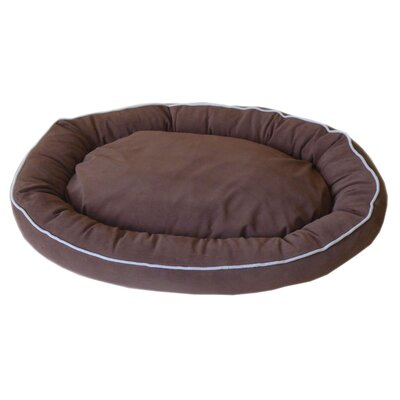 Oval Lounge Bagel Donut Dog Bed Color: Chocolate, Size: Extra Large (42 L x 30 W)