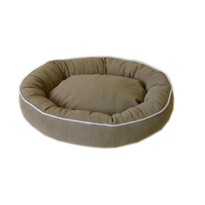 Oval Lounge Bagel Donut Dog Bed Size: Small (24 L x 20 W), Color: Sage