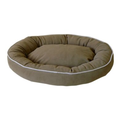 Oval Lounge Bagel Donut Dog Bed Color: Sage, Size: Large (36 L x 27 W)