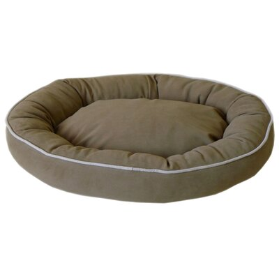 Oval Lounge Bagel Donut Dog Bed Color: Sage, Size: Extra Large (42 L x 30 W)