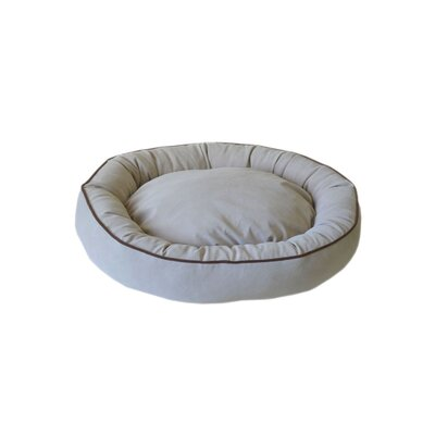 Oval Lounge Bagel Donut Dog Bed Size: Small (24 L x 20 W), Color: Linen