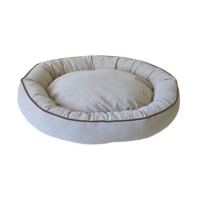 Oval Lounge Bagel Donut Dog Bed Size: Medium (30 L x 24 W), Color: Linen