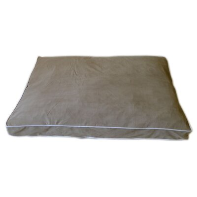 "Petnapper Dog Pillow Color: Linen / Sage, Size: Medium (42"" L x 30"" W)"