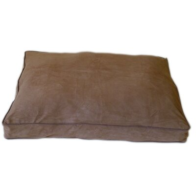 "Petnapper Dog Pillow Size: Small (36"" L x 27"" W), Color: Chocolate / Saddle"