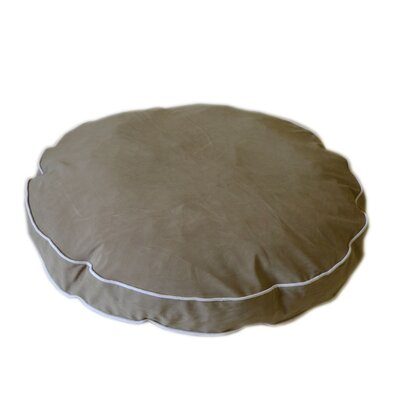 "Round Dog Pillow Size: Large (42"" L x 42"" W), Color: Linen / Sage"