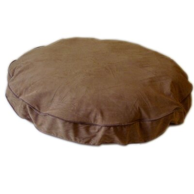 "Round Dog Pillow Color: Chocolate / Saddle, Size: Small (27"" L x 27"" W)"