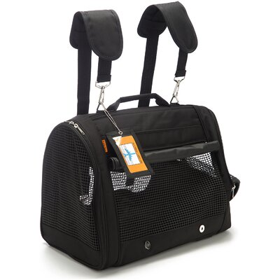Travel Backpack Pet Carrier Color: Black