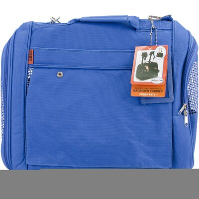 Travel Backpack Pet Carrier Color: Blue