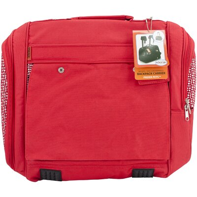 Travel Backpack Pet Carrier Color: Red