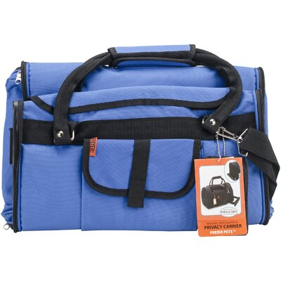 Travel Privacy Pet Carrier Color: Blue