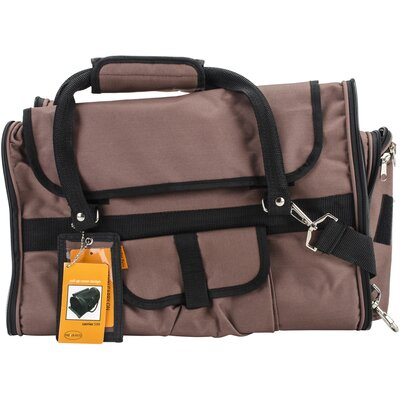 Travel Privacy Pet Carrier Color: Chocolate