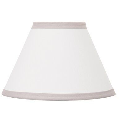 Dreamer 8 Fabric Bell Lamp Shade Color: Gray