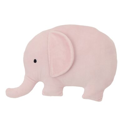 Dreamer Plush Elephant 3D Wall Decor Color: Pink 4810008