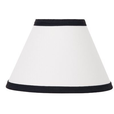 Dreamer 8 Fabric Bell Lamp Shade Color: Black/White