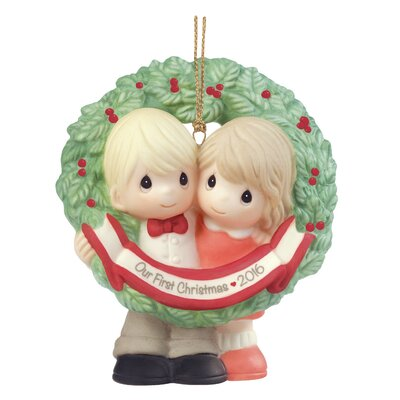 "Our First Christmas Together 2016"" Bisque Porcelain Ornament"
