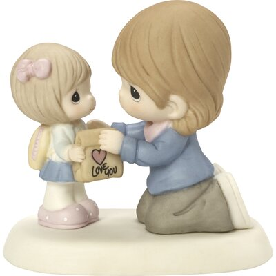 Thinking Of You Gifts My Heart Goes With You Always Bisque Porcelain Figurine 164006