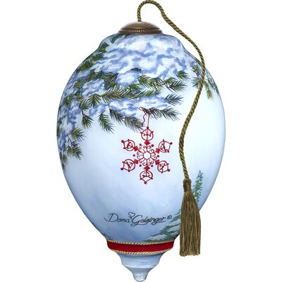 Ne'Qwa Standard Princess Santa's Feathered Hat Shaped Ornament 7171123