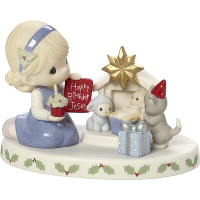 Happy Birthday Jesus Bisque Porcelain Figurine 171030