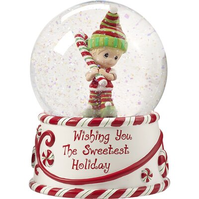 Wishing You the Sweetest Holiday Second in Annual Elf Series Resin/Glass Musical Snow Globe 171102