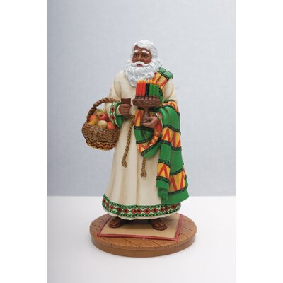 "African American Santa"" Limited Edition African American Santa Figurine"