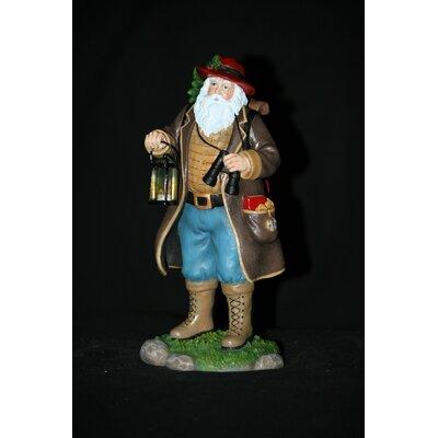 "Camping Claus"" Camping Santa Figurine"
