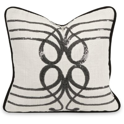 IK Symphony Sequin Linen Throw Pillow
