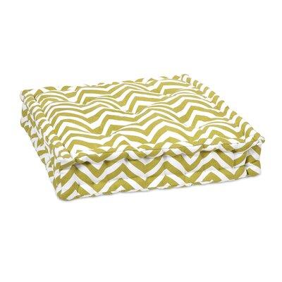 Imax Chevron Floor Cushion - Color: Green