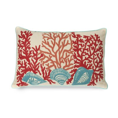 Tyden Shells and Coral Cotton Throw Pillow