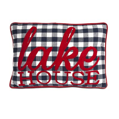 Lake House Cotton Lumbar Pillow