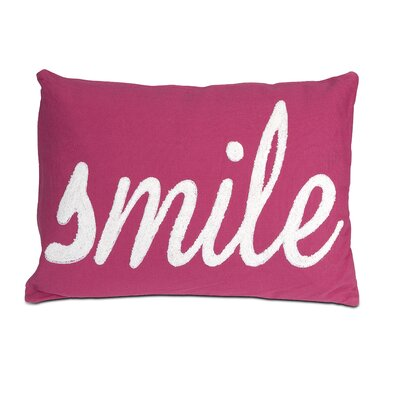 Suzie Smile Cotton Lumbar Pillow