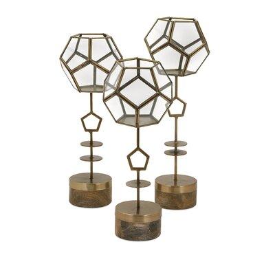 Jada 3-Piece Glass Terrarium Set