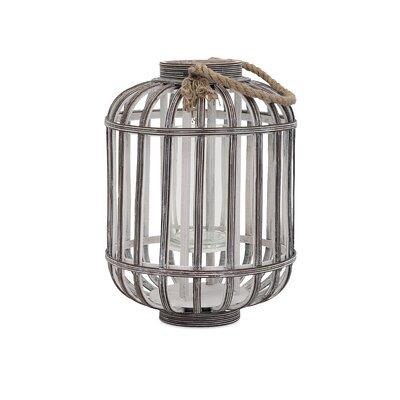 Jate Wood Lantern Size: 15.75 H x 11.25 W x 11.25 D