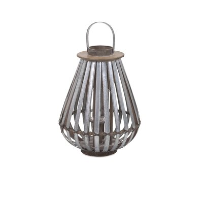 Logan Galvanized Metal Lantern