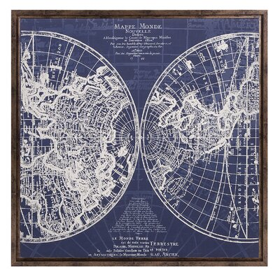 Harrington Map Framed Graphic Art