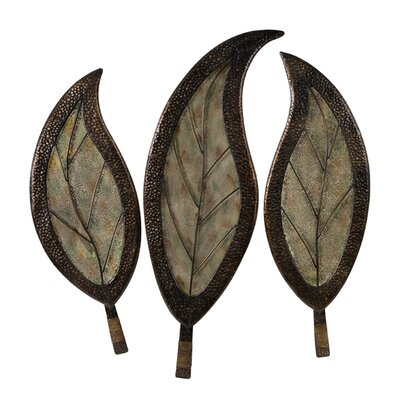 IMAX Three Piece Botanical Wall Decor Set in Green | Wayfair