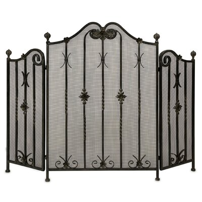Easy financing 3 Panel Iron Fireplace Screen...