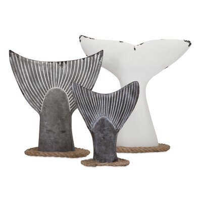 Seaworthy 3 Piece Fish Tail Wall Decor Set