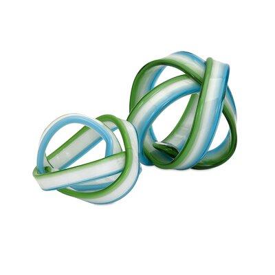2 Piece Cambria Glass Knot Sculpture Set 65437-2