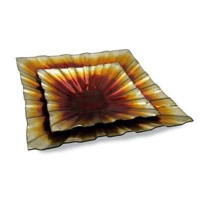 Painterly Glass Charger (set Of 2)