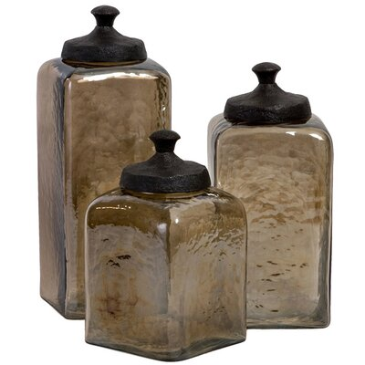 Luster 3 Piece Decorative Jar Set
