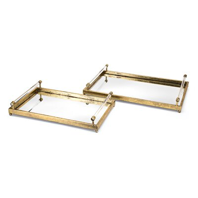 Carter Metal and Acrylic Vanity Tray