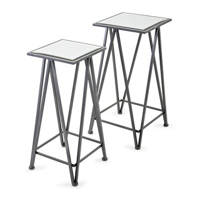 Hanover Mirror 2 Piece Nesting Tables