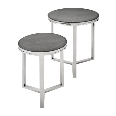 Corsa Stainless Steel 2 Piece Nesting Tables