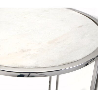 Wally Marble 2 Piece Nesting Tables