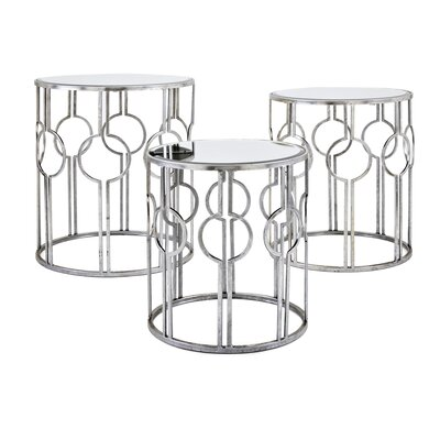 Roush Mirror 3 Piece Nesting Tables