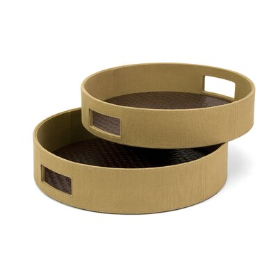Minister Round Trays (set Of 2)